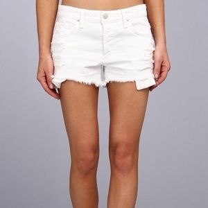 JOES JEANS White Distressed Denim Shorts in Minx